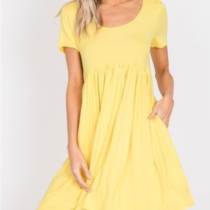 Yellow muse dress